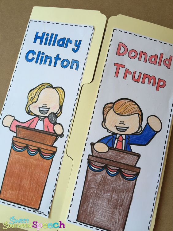 Learn all about elections and the 2016 candidates Hillary Clinton and Donald Trump - fun lap book!