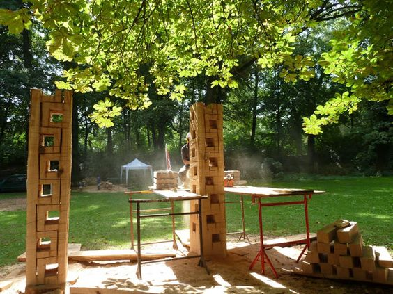 Int. Bildhauersymposium Bad Salzhausen: Work in Progress