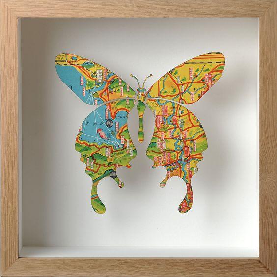Single butterfly artwork Nº58