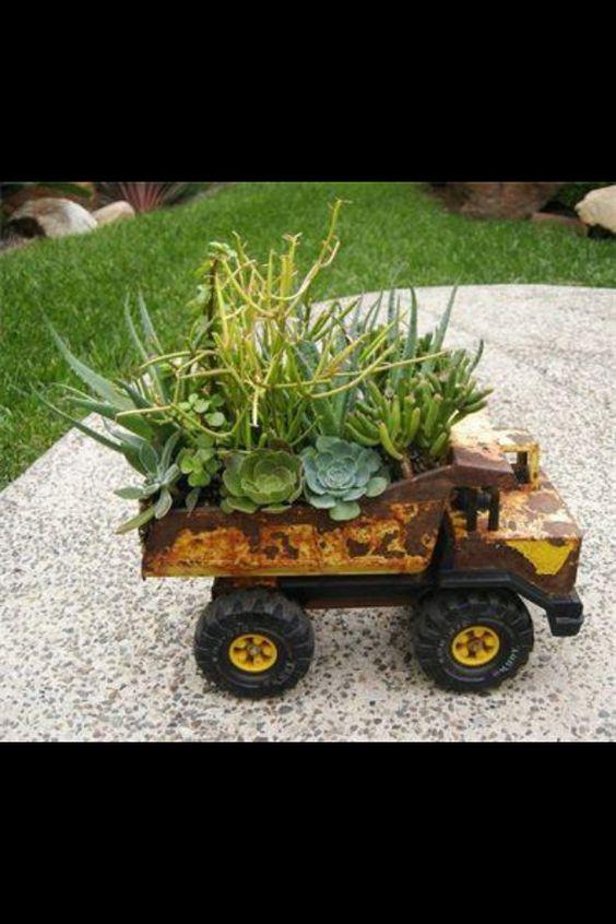 Tonka Truck Planter