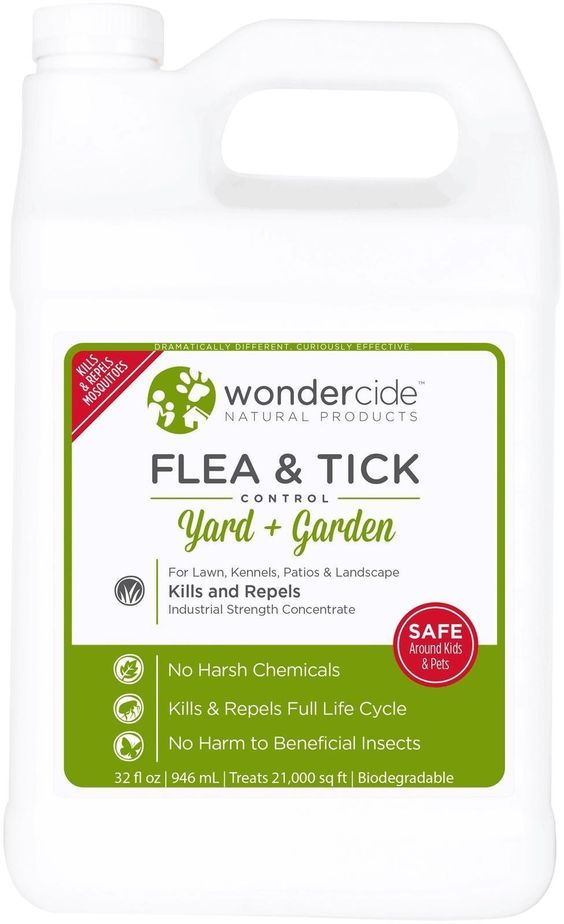 Natural Flea and Tick Yard Spray | Kill Control & Prevent Fleas Ticks Mosquitoes & Other Insects Apply with Hose End Sprayer | 16oz 32oz & 1 Gallon Organic Concentrate Safe Around Kids Pets & Plants 32 oz