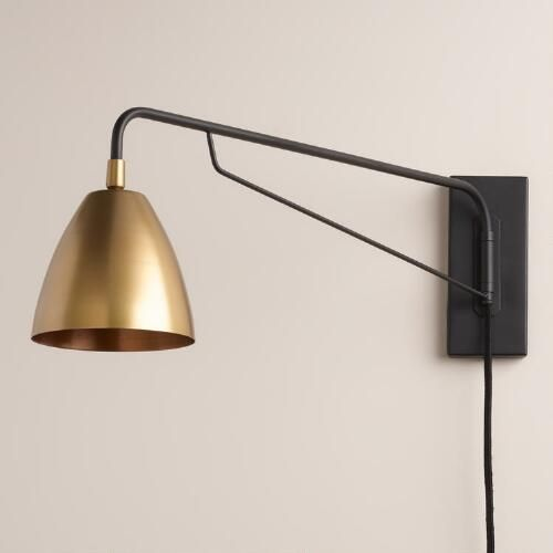 Brass Nook Pivoting Wall Sconce | World Market:
