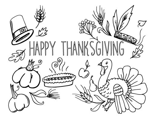 Coloring Thanksgiving And Coloring Pages On Pinterest