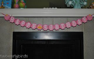 Two Early Birds: Princess Birthday Banner