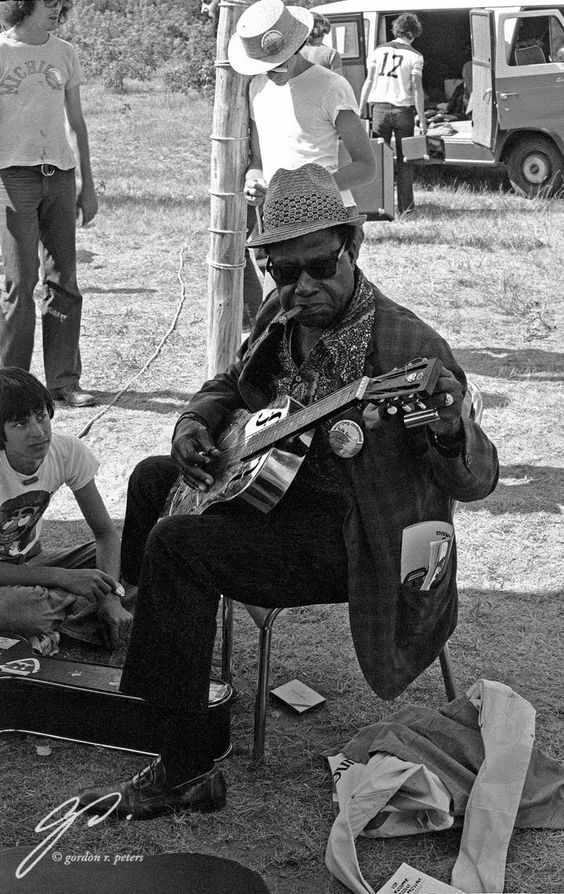 Bukka White, Booker T. Washington White - November 12, 1909 – February 26, 1977 playing His National Guitar