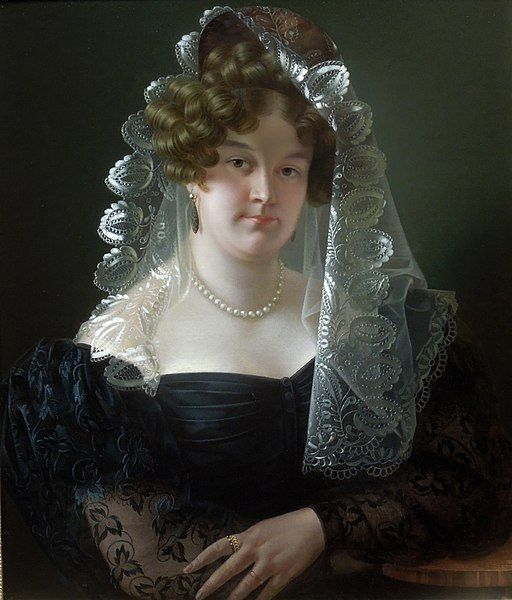 Pfanhauser: Portrait of Julia Wiemanowa née Czaban. Circa 1830