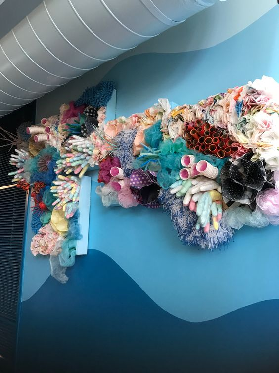 Diy Coral Reef Decorations At Marbles Children S Museum In Raleigh Nc Under The Sea Party Sensory Room Cool Art