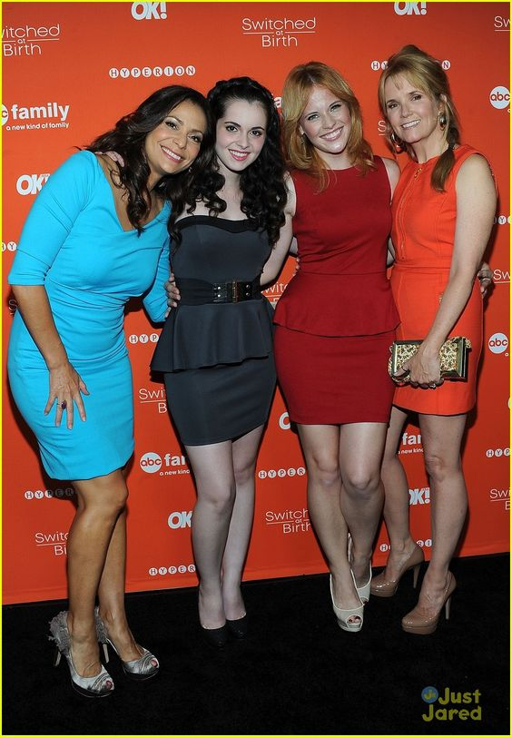 Constance Marie, Vanessa Marano, Katie Leclerc & Lea Thompson at the Crush By ABC Family Launch Celebration