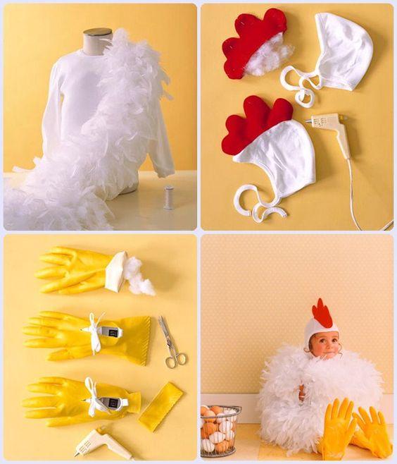 Disfraz de gallina casero: