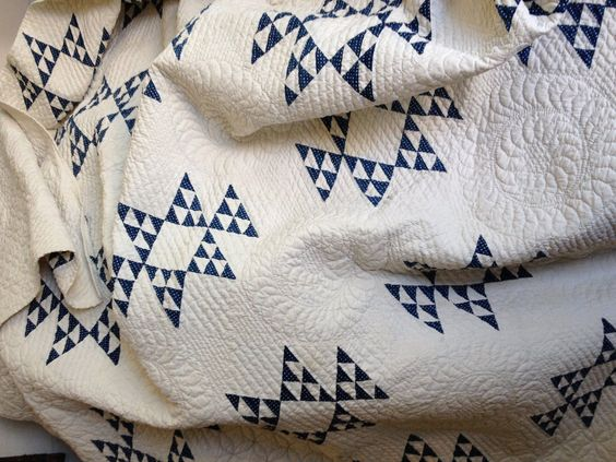 Fantastic Heirloom Quality Quilt Blue and White | eBay