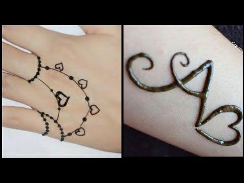اجمل رسومات حنة رقيقة رسومات تاتو سمبل سهلة بسيطة ارسميها لنفسك فى البيت Youtube Mehndi Designs For Girls Mehndi Designs Infinity Tattoo