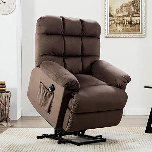 New Anj Power Lift Recliner Chair For Elderly With Over Stuffed Armrest And Comfort Broad Backrest Remote Cont In 2020 Recliner Chair Single Sofa Chair Lift Recliners