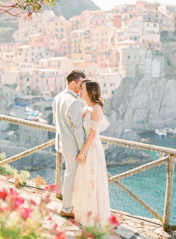 On top of the world with you! Cinque Terre engagement shoot.