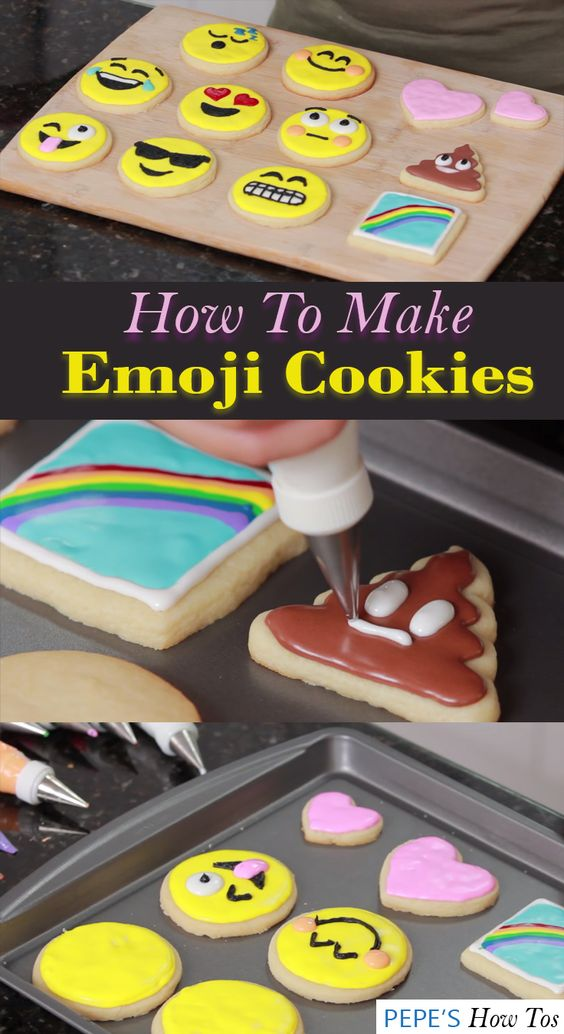 How To Make Emoji Cookies Emoji Cookie Candy Birthday Party