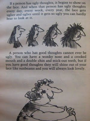 Wisdom from Roald Dahl and Quentin Blake.