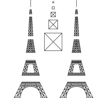 3d printing pen eiffel tower template