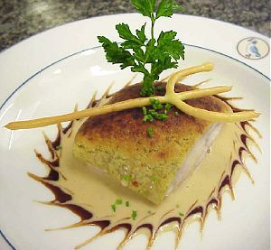 Herb-Crusted John Dory with Grainy Mustard Sauce