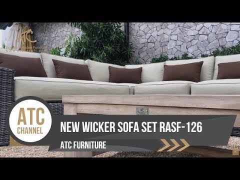 New Product Garden Wicker Sofa Set Rasf 126 4k Video