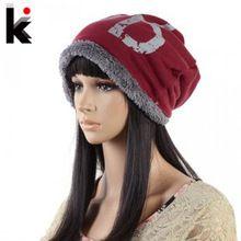 Moda inverno de chapéus para homens e mulheres Skullies gorros chapéu de inverno…