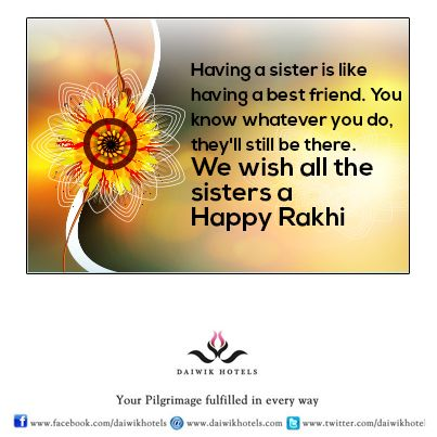 Wishing all Brothers and Sisters a very Happy Rakhi.