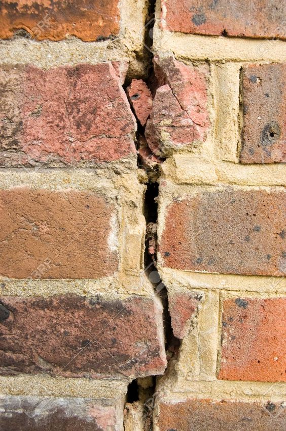 Stock. With a close up shot of this brick wall and the crack in the middle, people seeing this can immediately recognize texture.Whether it's the space between the crack or the brick wall itself, it's something that most everyone has felt and the dimension is clear in the photograph.: