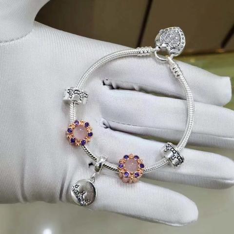 Pandora flower heart clasp bracelet   Bracelets women fashion ...