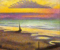 Georges Lemmen fue un pintor neo-impresionista belga. Fue miembro de Les XX a partir de 1888. Entre sus obras destacan La playa en el atraco, Marechal Aline y Jarrón con flores. Serruys Yvonne estudió en su taller en Bruselas desde 1892 hasta 1894.