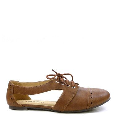 Look what I found on #zulily! Tan Simmon Cutout Oxford by cityClassified #zulilyfinds