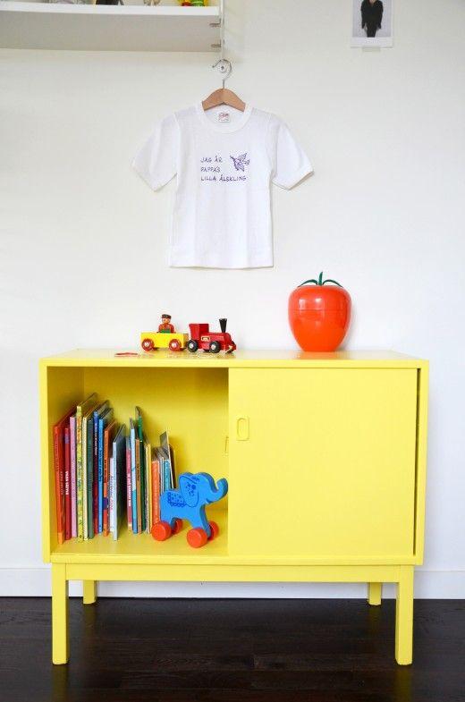 Barnrum barnrum pyssel : Teakbyrå, Möbelprojekt, Byrå, Skåp, DIY, Pyssel, Ommålning, Gul ...