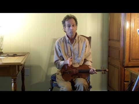 Terry Borman - How to correct a violin (or viola) bridge that is pulling. (VIDEO)