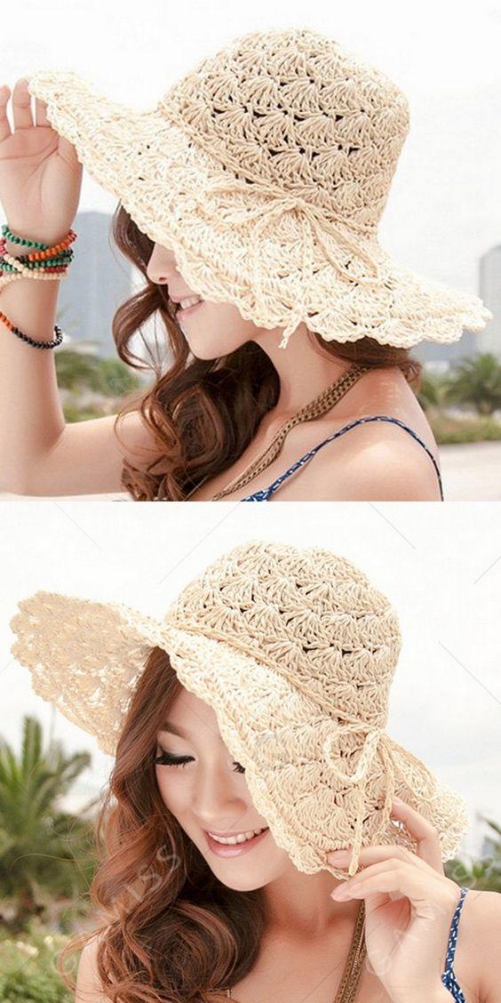 Ne kadar sevimli bir güneş şapkası!
