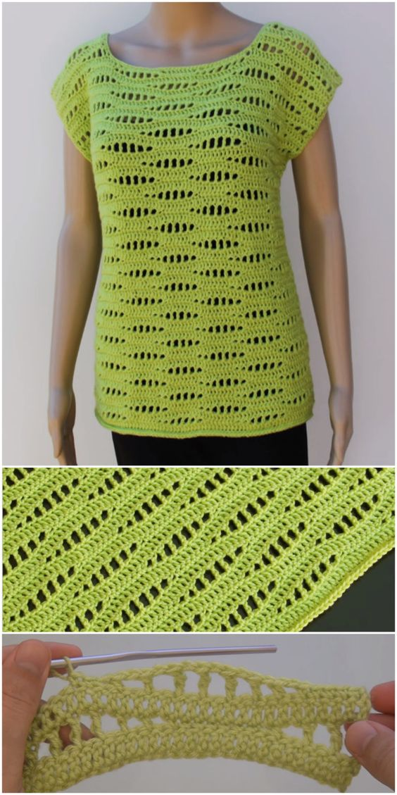 Crochet Sleeveless Top - Pretty Ideas