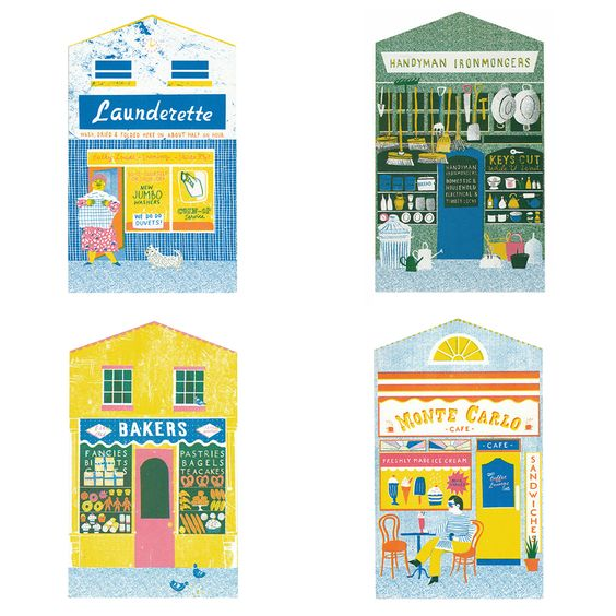 The Printed Peanut - Shop Front Greetings Cards, £2.95 (http://www.theprintedpeanut.co.uk/shop-front-greetings-cards/)
