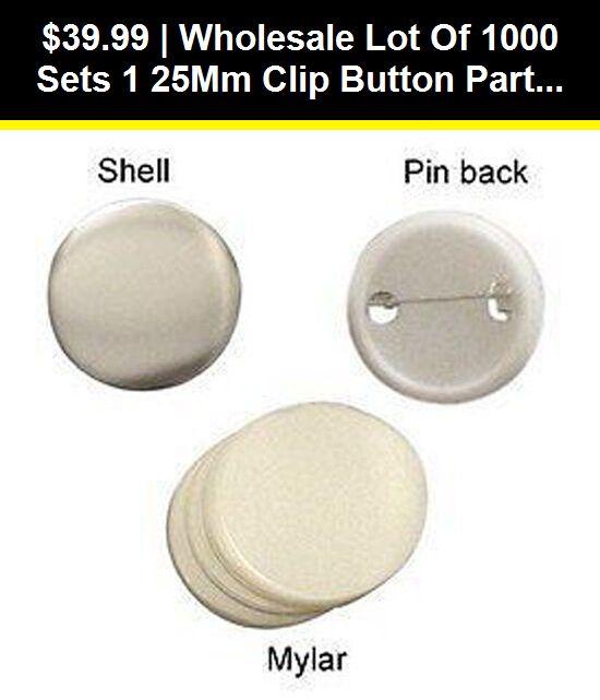 Badge Button Makers 71176 Wholesale Lot Of 1000 Sets 1 25mm Clip Button Parts Supplies For Maker Machine Buy It Now Button Maker Wholesale Lots Badge Maker