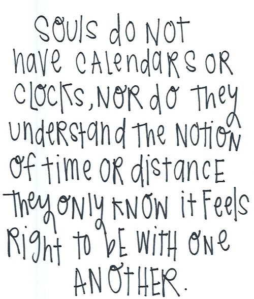 With your soulmate...