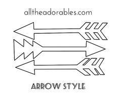 printable arrow stencil - Google Search