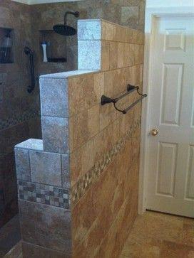 Master Bathroom Shower Ideas No Door
