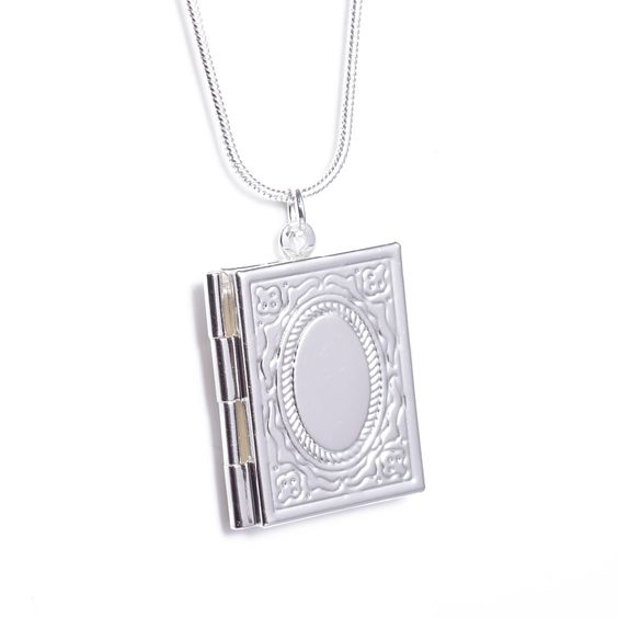 2Pcs High Quality Square Silver Openable Photo Picture Locket Pendant