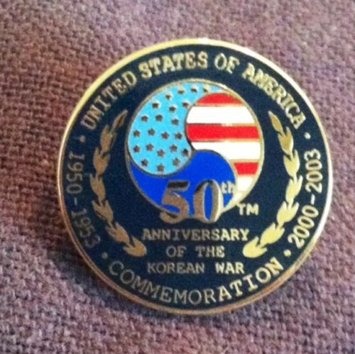 Korean War 50th Anniversary Commemoration Military Lapel Hat Pin Pinback Veteran Pin Military Pins Hat Pins