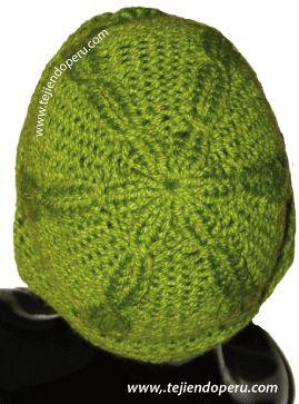 gorro en con banda en tejido moebius - moebius knitted hat