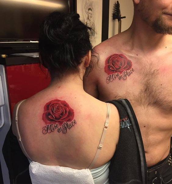 #rosetattoos By: Saara Jansson #tattoo #tattoosforcouples #uusikaupunki