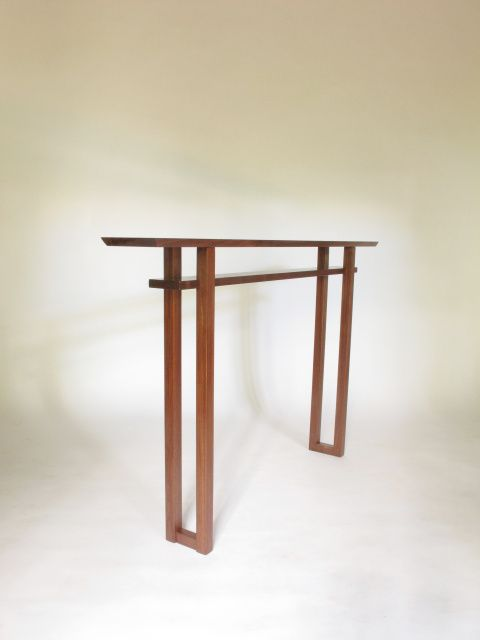 A Very Narrow Console Table Handmade From Solid Walnut Hall Table Entry Table Narrow Si Narrow Console Table Very Narrow Console Table Table For Small Space
