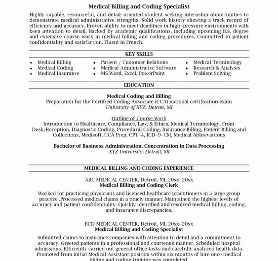 Billing And Coding Resume Awesome Medical Billing Specialist Resume Examples Hirnsturm Billing And Coding Coding Medical Billing And Coding