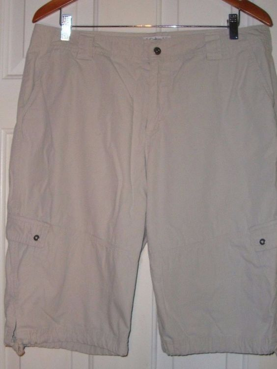 Women's Authentic Columbia Sportswear Co. Cargo Khaki Shorts Size ...