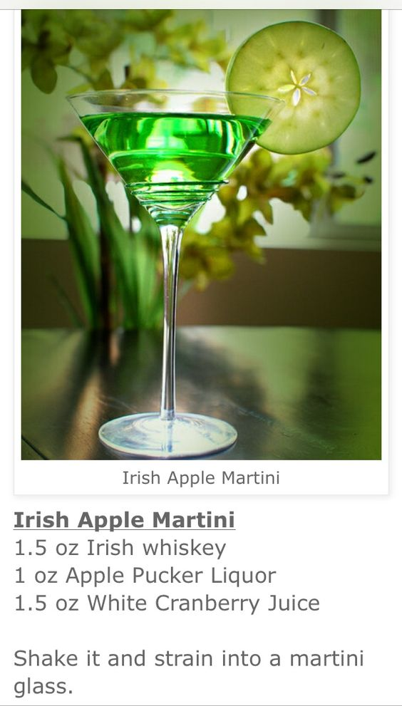 IRISH APPLE MARTINI