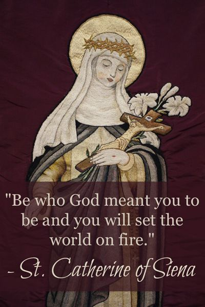 Remembering inspiring quotes from St. Catherine of Siena on her feast day April 29 (Image via Lawrence OP, Flickr):