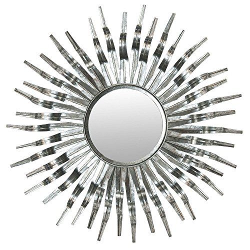 Safavieh MIR3007C Home Collection Silver Sun Mirror,Silve...