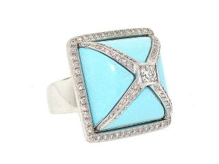 It feels like summer! I want sandals, mini-skirts and bright colors! Turquoise and Diamond Ring in 18K