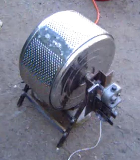 Coffee Roaster Constructed From The Drum Of A Washing Machine