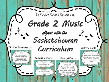 Everything you need for the Grade 2 Music program is here in one bundle!  Prompt…